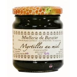 Confiture de myrtilles au miel - 230g