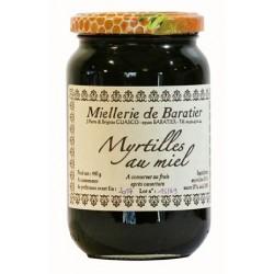 Confiture de myrtilles au miel - 400g