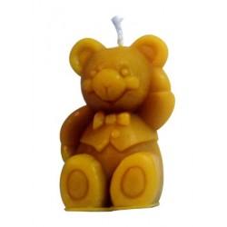 Bougie ours à la cire d'abeille